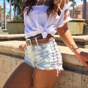 Carmar high waisted shorts
